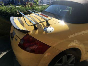 audi tt convertible stainless steel luggage rack