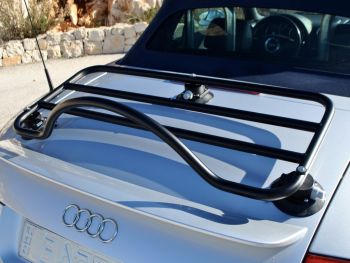 audi tt mk1 8n convertible luggage rack fitted to a silver tt convertible