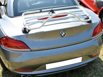 silver bmw z4 e89 with a revo-rack pa polished luggage rack fitted