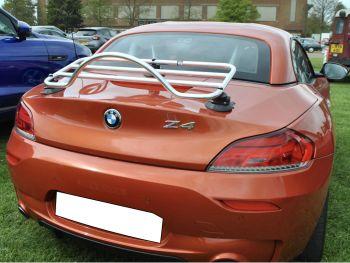 Dusty orange bmw z4 with a revo-rack pa luggage rack fitted
