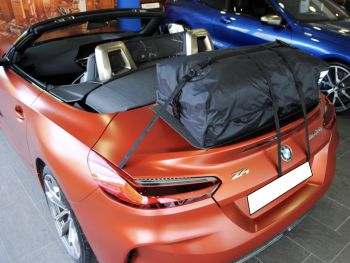 bmw z4 g29 in matt bronze with a bootbag vacation luggage rack fitted