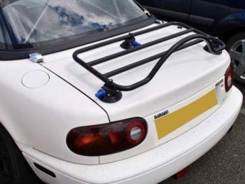 mazda mx5 mk1 / miata na luggage rack revo-rack fitted to a mx5