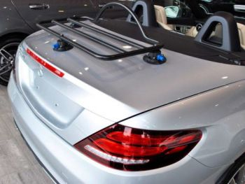 Mercedes SLK R172 Luggage Rack fitted to a silver r172 slk
