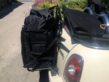 Mini convertible luggage rack
