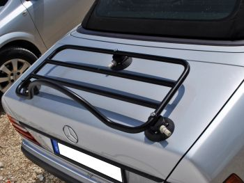 Aerial view of a revo-rack boot rack attached to a W124 E Class cabriolet